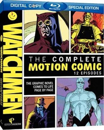 Watchmen: The Complete Motion Comic Blu-ray disc includes early movie teaser