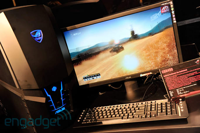 ASUS showcases ROG CG8490 gaming desktop: Core i7-980X, dual OC'd Radeon HD 5870s