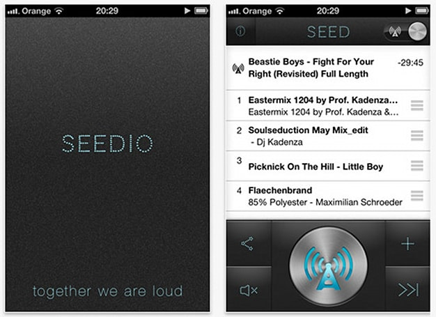 Seedio app networks iDevices into loudspeaker, blasts music far and wide