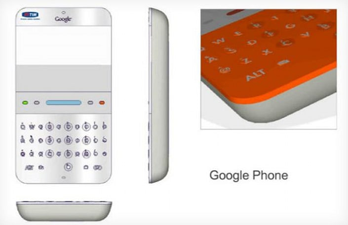 Oracle v. Google trial reveals renders of original Google phone design