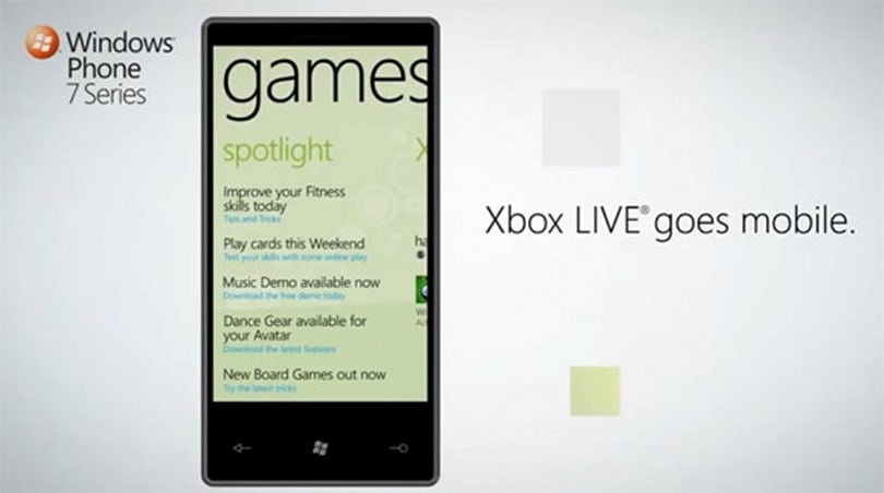Windows Phone 7 announced, includes Xbox Live support