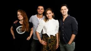"The Cast Of ""White Girl;"" Elizabeth Wood, Morgan Saylor, Justin Bartha and Brian Marc"