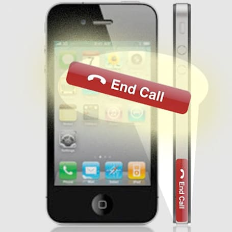 iPhone 'End Call' sticker is an ironic solution to your reception problem