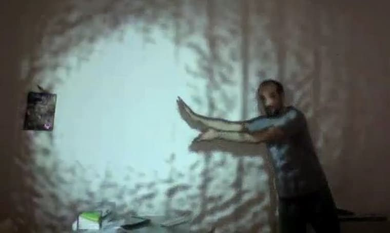 Kinect + projector = augmented reality fireballs (video)