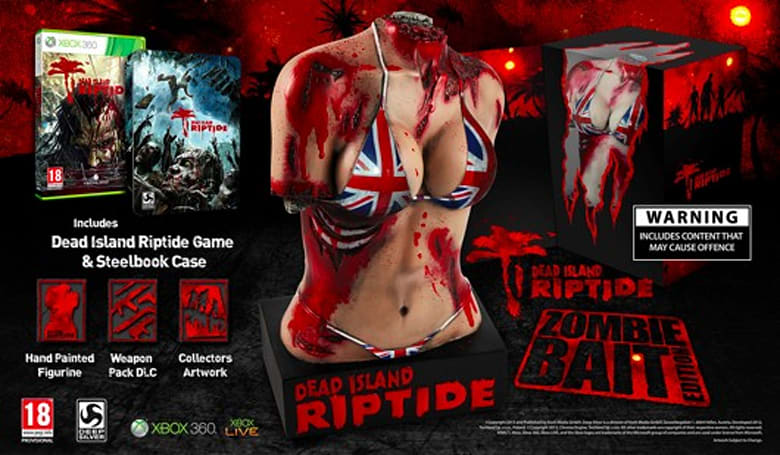 Dead Island: Riptide's UK 'Zombie Bait' edition comes with bloody torso