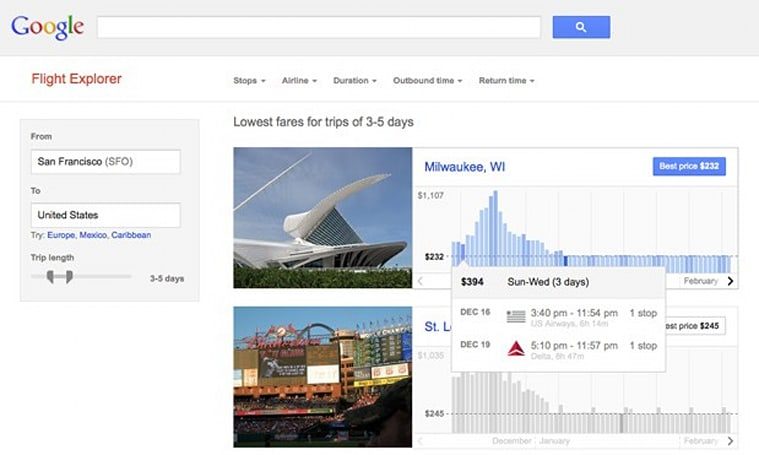 Google tests Flight Explorer tool, offers more visual and powerful ticket searches