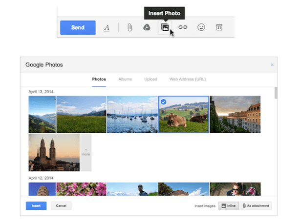 Google makes it easier to email your smartphone snaps from the web