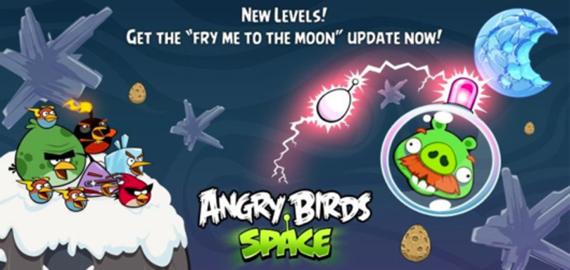Angry Birds Space 'Fry Me To The Moon' pack adds 10 levels for free