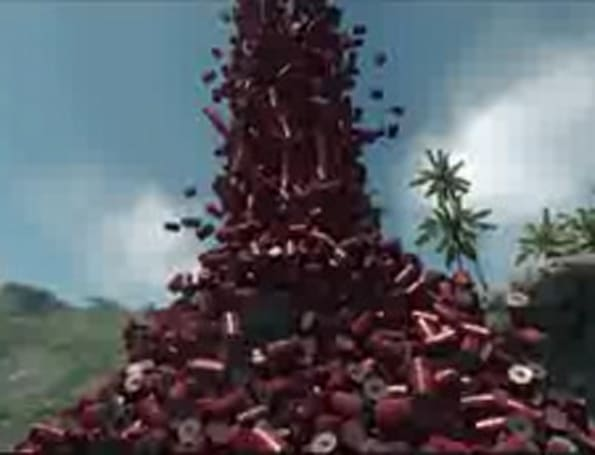 Today's most indulgent video: 3,000 barrels in Crysis [update]