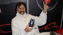 Luigi Colani at CeBIT -- oh, and his AnyFix charger too
