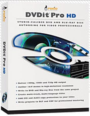 Roxio's DVDit Pro HD authors Blu-ray / DVD