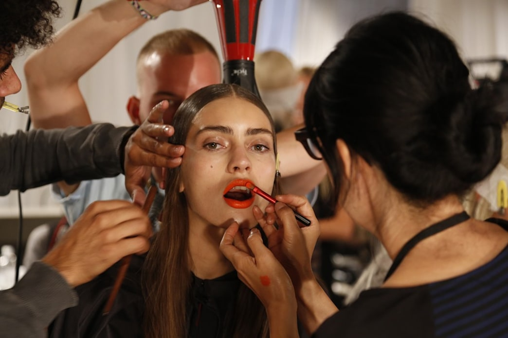 Get the look: Gucci Westman gives lip service backstage at Rag & Bone