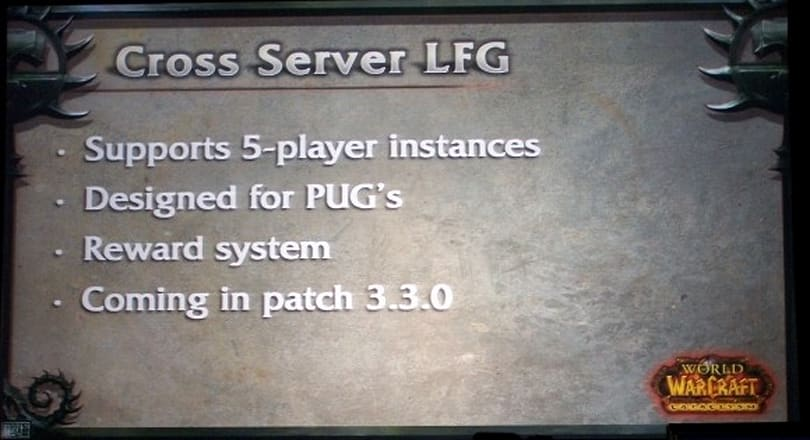 BlizzCon 2009: Blizzard announces cross-server instances