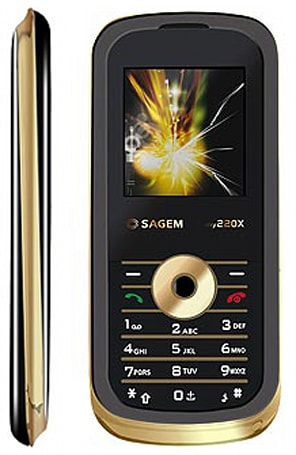 Gold looks without gold prices: Sagem's my220x
