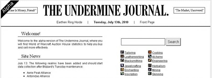 Gold Capped: The Undermine Journal