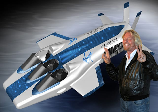 Virgin goes underwater with Necker Nymph aero submarine