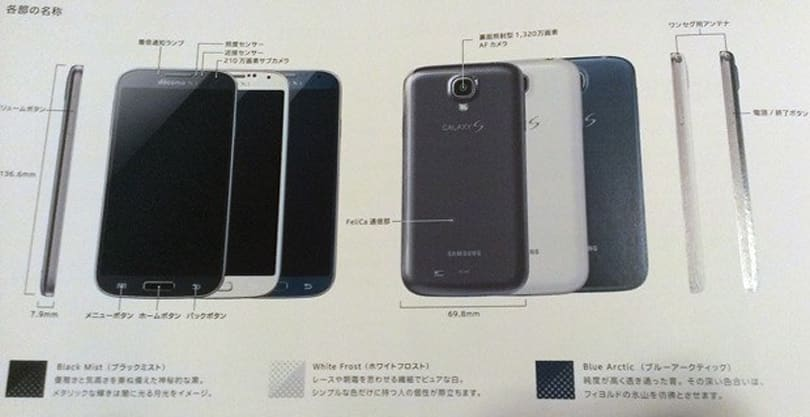 Samsung's Galaxy S 4 gets 'blue arctic' paint-job for NTT DoCoMo