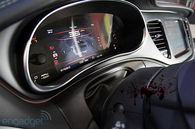 2013 Dodge Dart digital dash display hands-on (video)