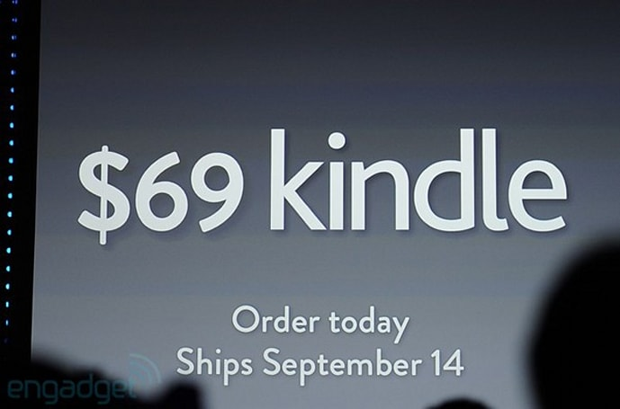 Amazon cuts the price of the lowest-end Kindle to $69, reader starts shipping on September 14th