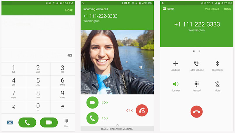 T-Mobile lets you dial up a video chat just like a regular call