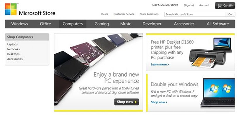 Microsoft online store now featuring third party hardware and software