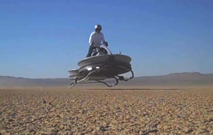 You won't need roads with this $85,000 hoverbike