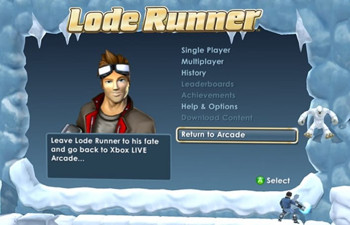 PAX 2009: Lode Runner dropping to 800 points on September 14