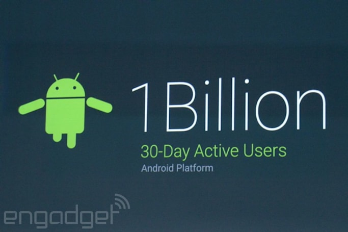 Android still the dominant mobile OS with 1 billion active users