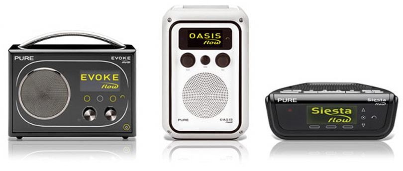 Pure's Evoke Flow, Oasis Flow and Siesta Flow internet radios finally on sale in America
