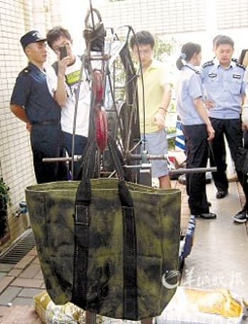 Smugglers use zip line and slingshot to sneak iPads into Shenzhen