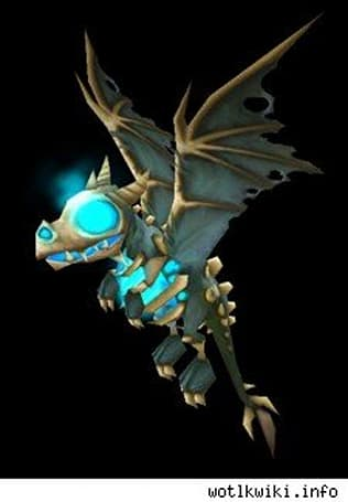 Wrath Collector's Ed pet: Frosty the Frost Wyrm whelp