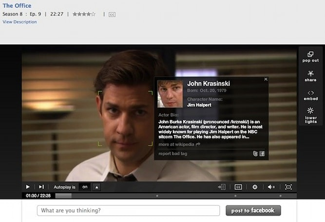 Hulu 'Face Match' feature attaches an actor's entire history to their mug