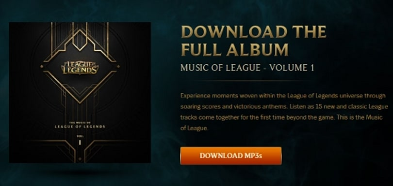 Get your free League of Legends soundtrack now