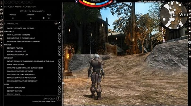 Darkfall video offers walkthrough for clan management system