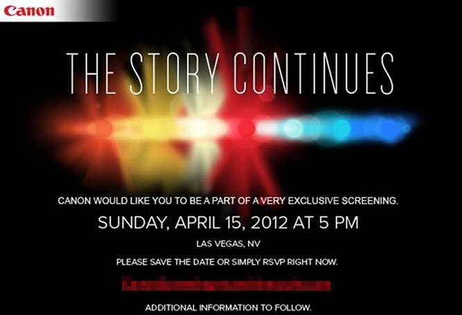Canon teases 'exclusive screening' in Las Vegas, new Cinema EOS products coming at NAB?
