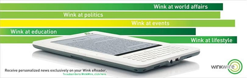 EC Media launches Wink e-reader in India