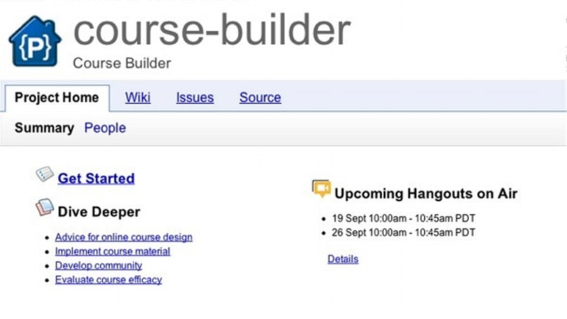 Google releases Course Builder, takes online learning down an open-source road