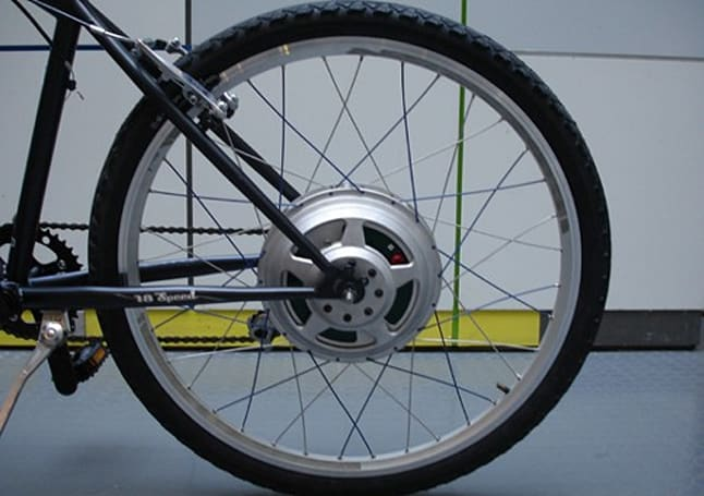 GreenWheel converts any Huffy 10-speed into an electric bicycle