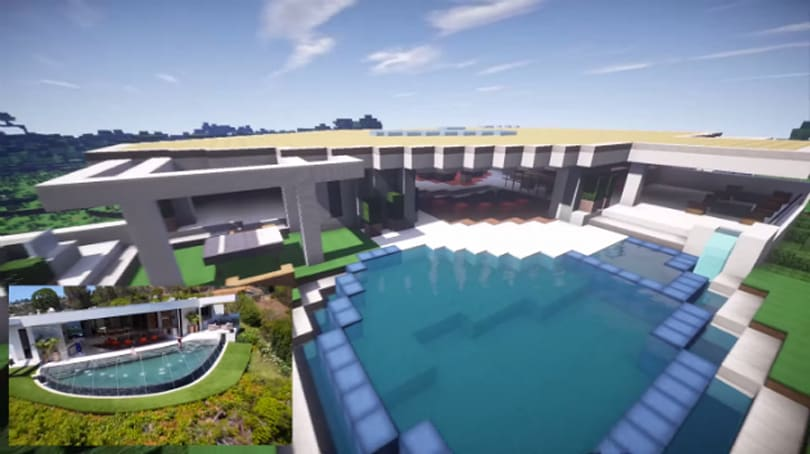 Notch's $70 million LA mansion recreated in Minecraft