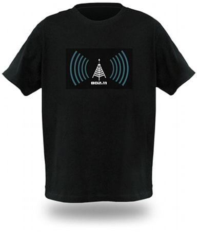 Animated WiFi detector shirt keeps you single with signal