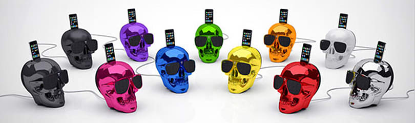Jarre Aeroskull speaker dock packs dual 15-watt woofers, recently departed Apple Dock Connector