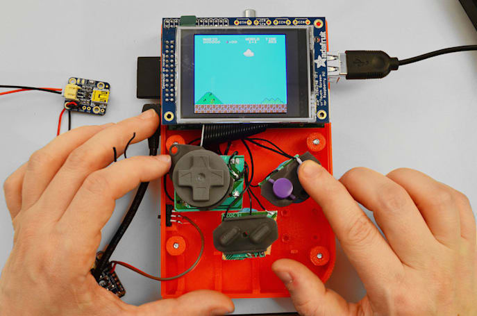 Build your own Game Boy with a Raspberry Pi, SNES pad and 3D printer