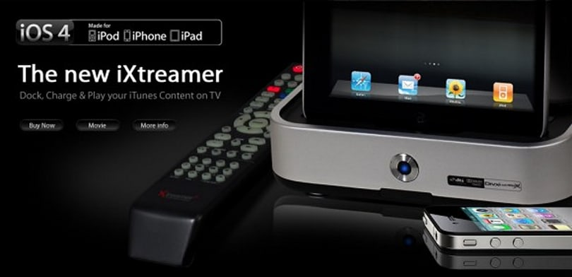 iXtreamer streams audio and video from your iOS 4 device to your TV