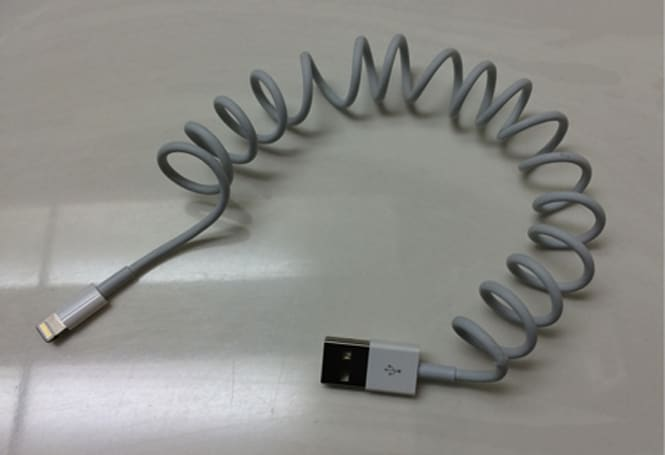 How to create your own coiled iPhone charging cord