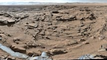 Curiosity snaps a pic of the most rugged plateau it crossed