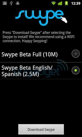 Swype for Android gets lightweight build with less language support