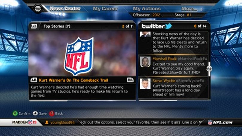 Madden 13 aims to be the 'first true sports RPG'