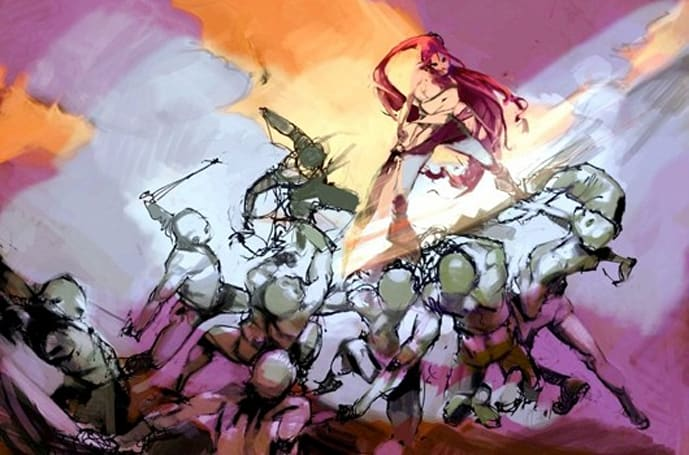 Heavenly Sword 2 artwork appears