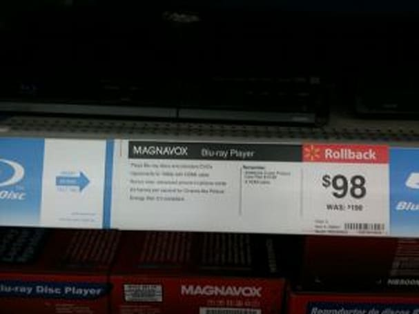 Wal-mart rolls back cheap Blu-ray player price to $98