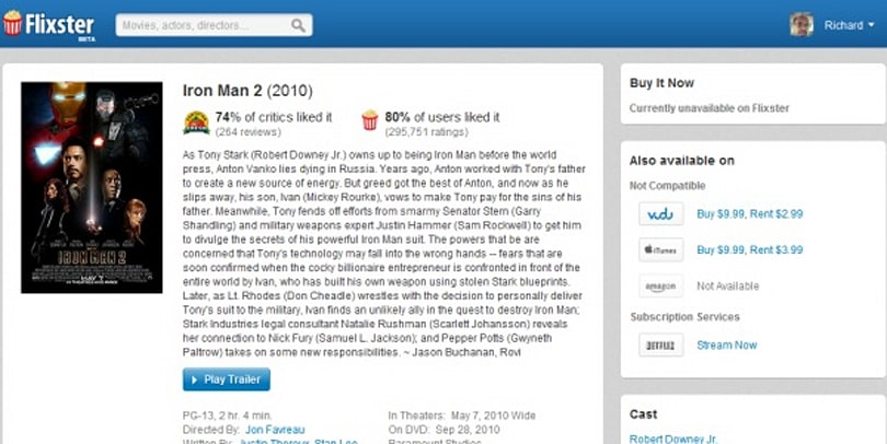 Revamped Flixster.com gives one-stop digital movie access for both UltraViolet and non-UV stores